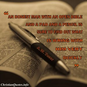 AW Tozer Christian Quote - Bible