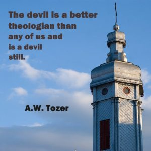 AW Tozer Christian Quote - Devil, Theologian