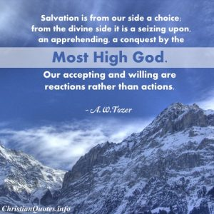 AW Tozer Christian Quote - salvation