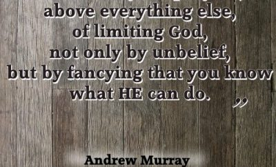 Andrew Murray Christian Quote - Expect Great Things