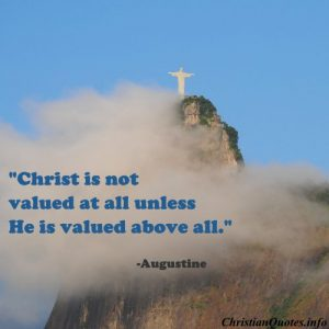 Augustine Christian Quote Christ - Valued