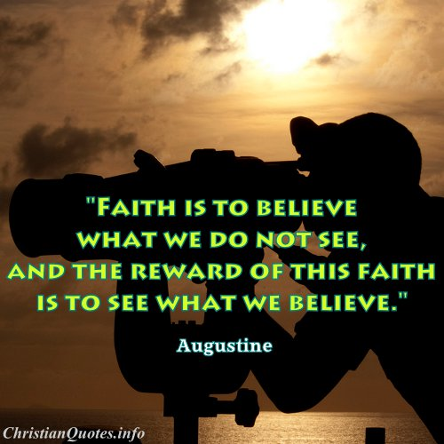 Christian Quotes About Faith Augustine Quote  Faith  Christianquotes