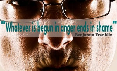 Benjamin Franklin Christian Quote - Anger, Shame