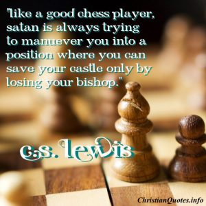 C.S. Lewis Christian Quote - Chess Player