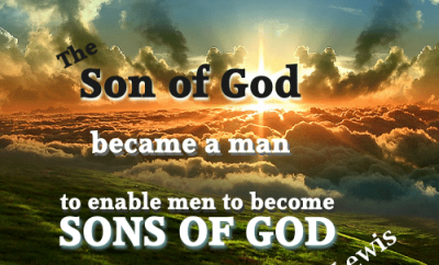 C.S. Lewis Christian Quote - Sons of God