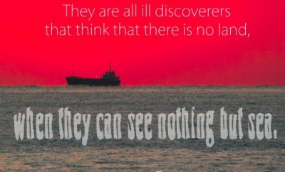 Francis Bacon Christian Quote - Land Sea