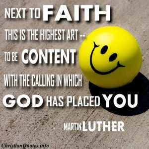 Martin Luther Christian Quote - Highest Art