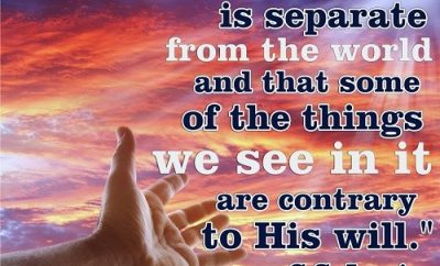 God is Separate - C.S. Lewis Quote