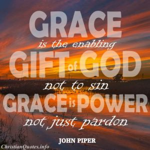 John Piper Christian Quote -Grace - sunset in background