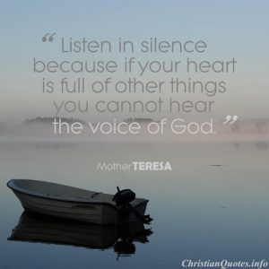 Mother Theresa Christian Quote - Voice of God