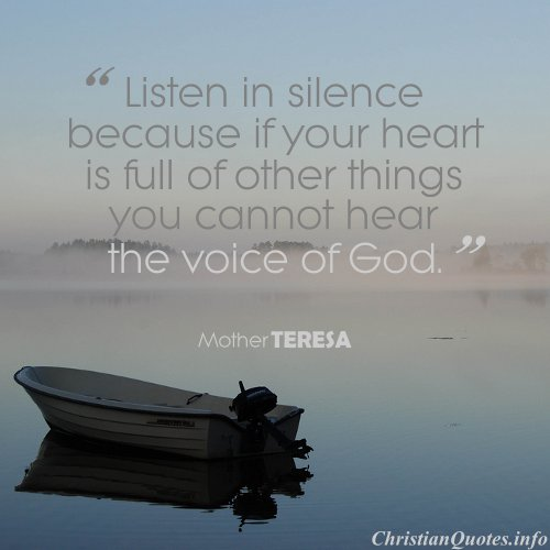 Mother Theresa Quote Voice Of God Christianquotes Info