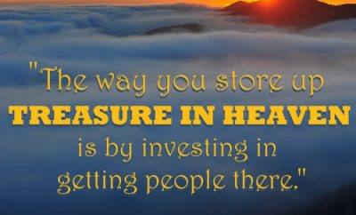 Rick Warren Christian Quote - Treasure in Heaven