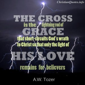 A.W. Tozer Quote - Lightning Rod of Grace - lightning at night