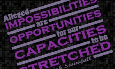 Chuck Swindoll Christian Quote - Impossibilities Opportunities