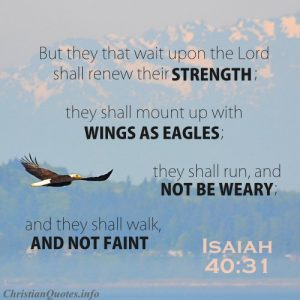 Isaiah 40:31 Bible Verse - Renewed Strength - Eagle soaring over mountains