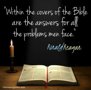 Covers of the Bible - Reagan Quote