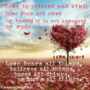 1 Corinthians - Love is Patient