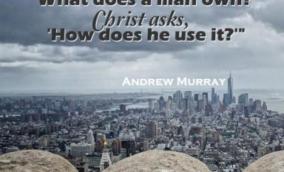 Andrew Murray Christian Quote - Giving - View of large city