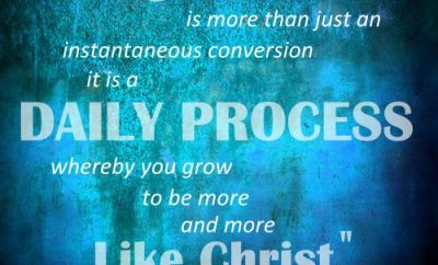 Billy Graham Quote - Grow More Like Christ - blue background