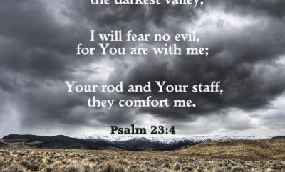 Psalm 23:4 Bible Verse - Darkest Valley - cloudy sky