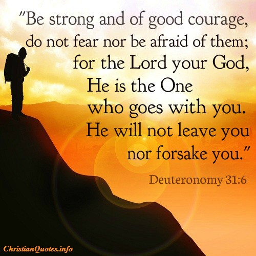 Bible Quotes For Strength Glamorous Deuteronomy 316  Strength & Courage  Christianquotes