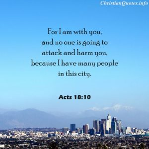 Acts 18:10 Bible Verse - Many People in this City - city with mountains