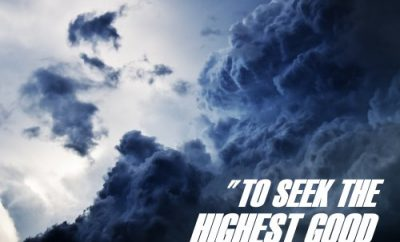 Augustine Quote - Highest Good - clouds