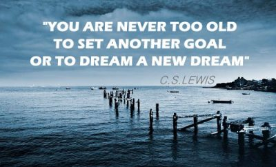C.S. Lewis Christian Quote - Another Goal - unfinished dock on water