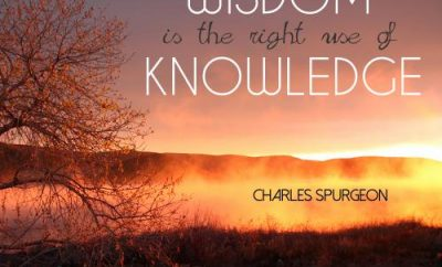 Charles Spurgeon Quote - Wisdom - sunset and fog