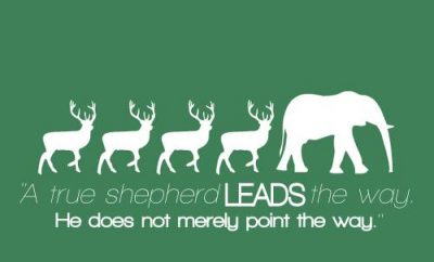 Leonard Ravenhill Quote - Leadrship - 3 reindeer following an elephant