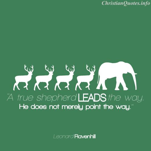 Leonard Ravenhill Quote   Leadrship   3 Reindeer Following An Elephant