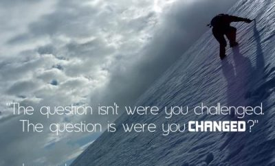 Leonard Ravenhill Quote - Were you Changed - person climbing mountain
