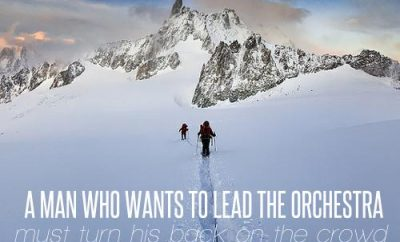 Max Lucado Quote - Leading - person walking up mountain