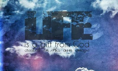 John MacArthur Quote - Life is a Gift from God - in the sky