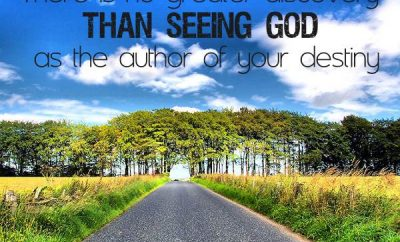 Ravi Zacharias Quote - There is no greater discovery than seeing God as the author of your destiny
