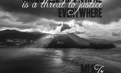 "Martin Luther King Jr. Quote - ""Injustice anywhere is a threat to justice everywhere."""