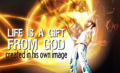 "John MacArthur Quote - ""Life is a gift from God created in His own image."""