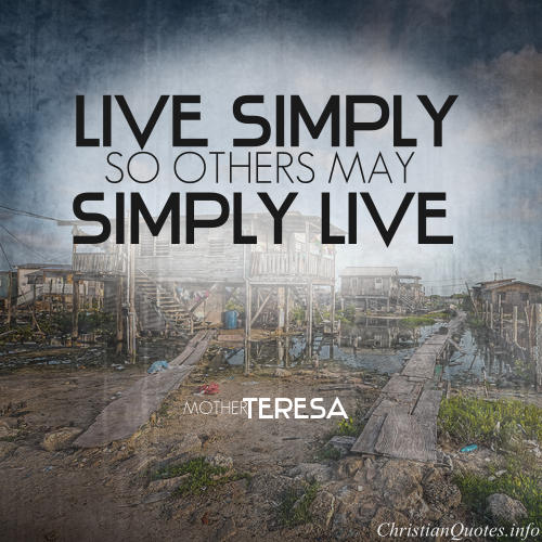 Mother Teresa Quote Live Simple Christianquotes Info