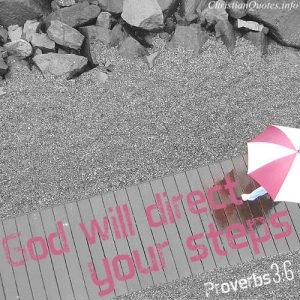 "Proverbs 3:6 Bible Verse - ""God will dreict your steps"""