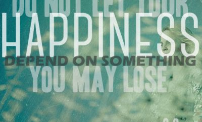 """C.S. Lewis Quote - """"Do not let your happiness depend on something you may lose."""""""