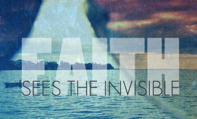 "Corrie Ten Boom Quote - ""Faith sees the invisible"""