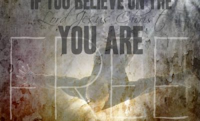 "Dwight L. Moody Quote - ""If you believe on the Lord Jesus Christ you are free."""
