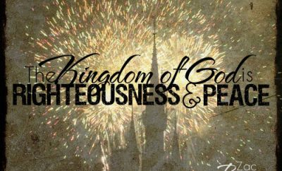 """Zac Poonen Quote - The kingdom of God is righteousness and peace"""""""