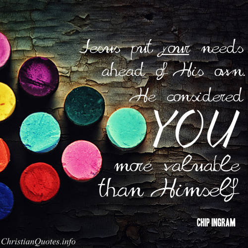 Jesus Considers You Valuable