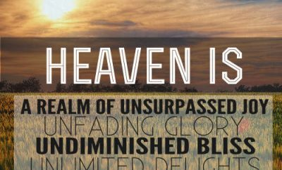 "John MacArthur Quote - ""heaven is a realm of unsurpassed joy, unfading glory, undiminished bliss, unlimited delights, and unending pleasures"""