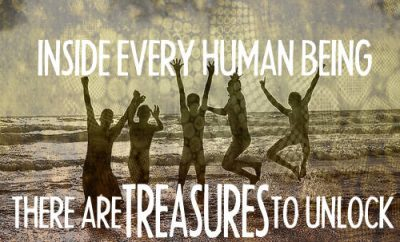 "Mike Huckabee Quote - ""Inside every human being there are treasures to unlock"""
