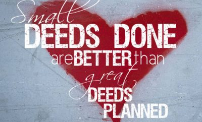 """Peter Marshall Quote - """"Small deeds done are better than great deeds planned."""""""