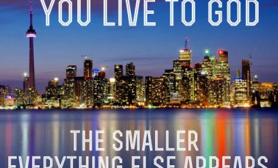 "Rick Warren Quote - ""The closer you live to God, the smaller everything else appears."""