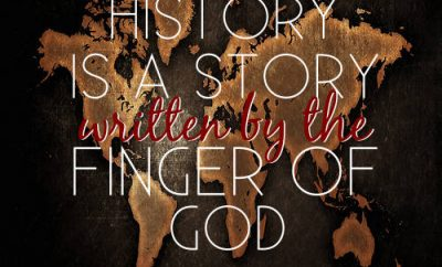 "C.S. Lewis Quote - ""History is a story written by the finger of God."""