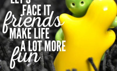 "Chuck Swindoll Christian Quote - ""Let's face it, friends make life a lot more fun."""